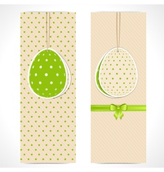 Easter egg banner backgrounds and ribbon vector