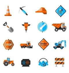 Road repair icons vector
