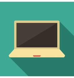 Flat laptop vector