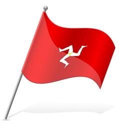 Flag isle of man vector