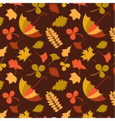 Autumn seamless pattern with seasonal leafs and vector