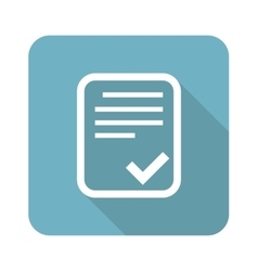Approved document square icon vector