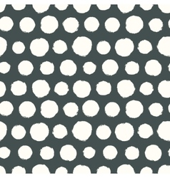 Seamless pattern with painted polka dot texture vector