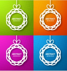 Set of bright abstract circles paper applique vector
