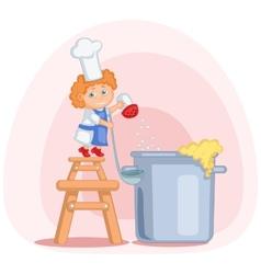 Little cook vector