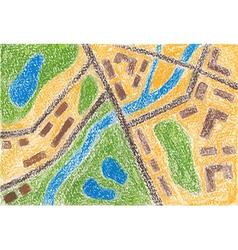 Maps color pencil vector