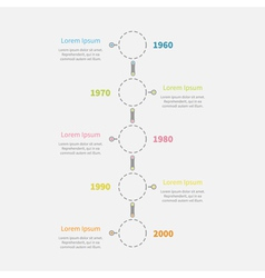 Dash line round icon timeline vertical infographic vector