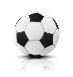 Blank photo realistic isolated on white football vector