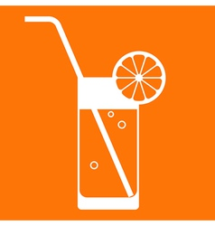 Orange juice glass vector