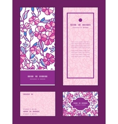 Vibrant field flowers vertical frame pattern vector