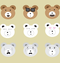 Big bear face set1 01 vector