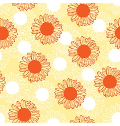 Chamomile pattern red vector