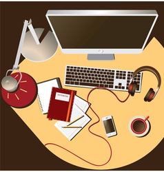 Workplace soft color vector
