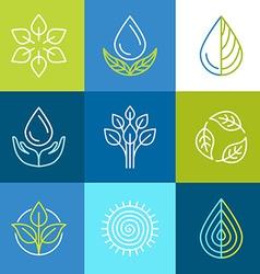 Organic logos vector