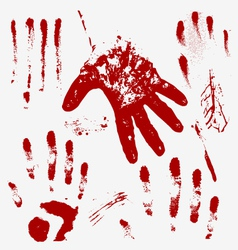 Bloody hand vector