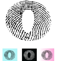 Fingerprint alphabet letter o vector