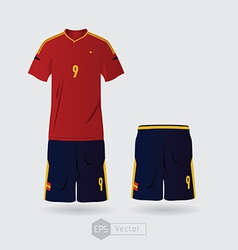 Spain team uniform vector
