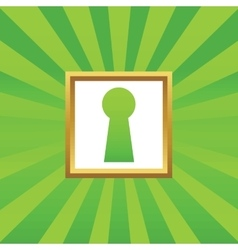 Keyhole picture icon vector