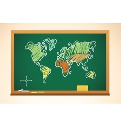 School background with geography map drawing on vector