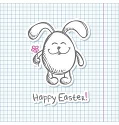 Easter bunny sticker vector