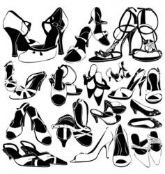 Women shoes detail vector