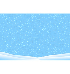 Winter landscape with snow falling vector