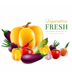 Vegetables group poster vector