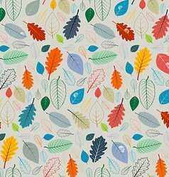 Seamless pattern - autumn leaves vector