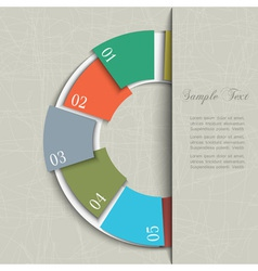Half circle design template for infographics vector