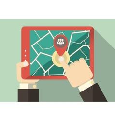 Flat tablet user vector
