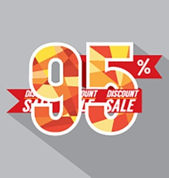Discount 95 percent off vector