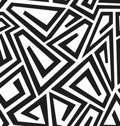 Monochrome curve maze seamless pattern vector