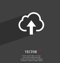 Upload from cloud icon symbol flat modern web vector