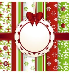 Christmas scrap book bauble background vector