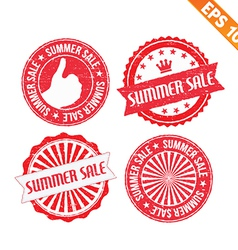 Stamp sticker summer sale collection - - ep vector