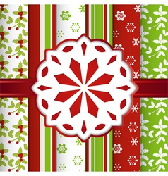 Christmas scrap book background with snowflake vector