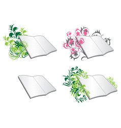 Floral diaries vector