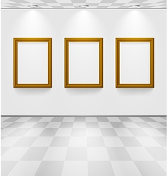 Room with three frames vector