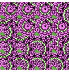 Violet coloured oriental ornate seamless pattern vector