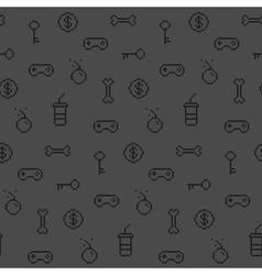 Seamless oldschool gaming inspired pattern vector