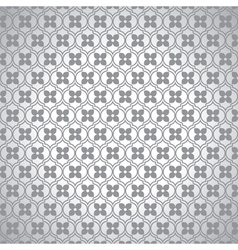Grey shiny small flower pattern background vector