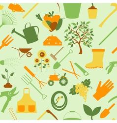 Gardening background seamless pattern vector