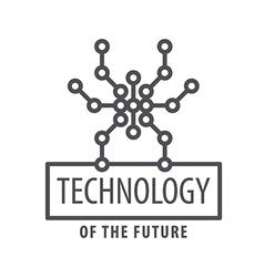 Logo graphic spider chip vector