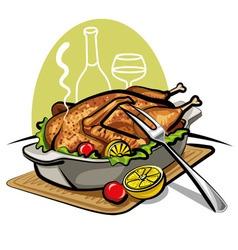 Roast goose vector