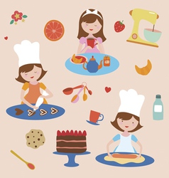 Cooking and baking set vector