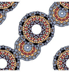 Gray mandalas in line over white background vector