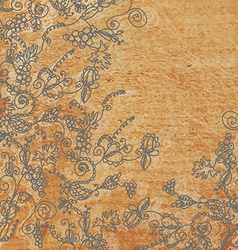 Abstract floral background with the wood texture vector
