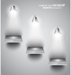 Shelf with spotlights vector