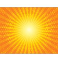 Sun sunburst pattern with circles orange sky vector