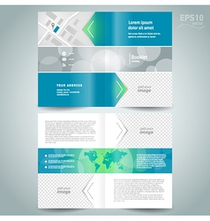 Booklet template design brochure arrow line vector